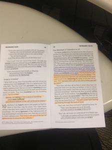 quizbook on desk