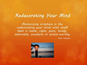 redecorating your mind